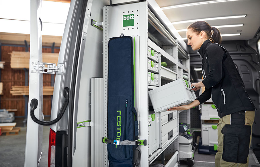 Festool Systainer in a shelf system
